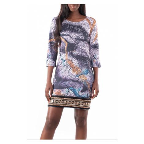 Culito from Spain wzorzysta sukienka z haftowaniem Fusión