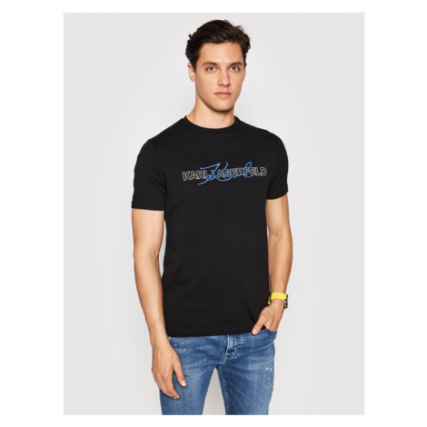 KARL LAGERFELD T-Shirt 755053 511225 Czarny Regular Fit