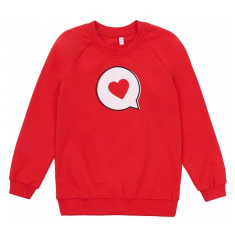 Czerwone dziewczęce bluzy nierozpinane