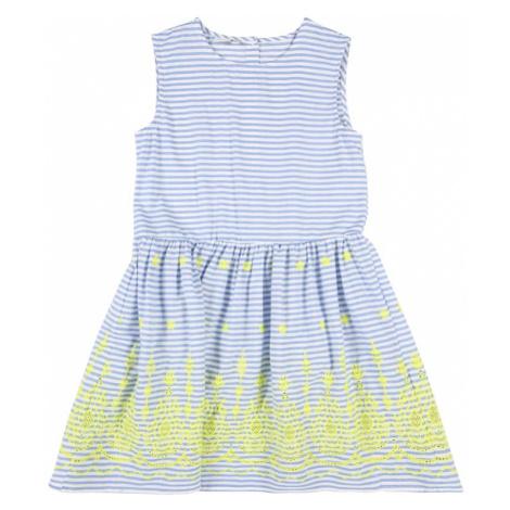 NAME IT Sukienka 'Jilly Spencer' niebieski / biały / żółty