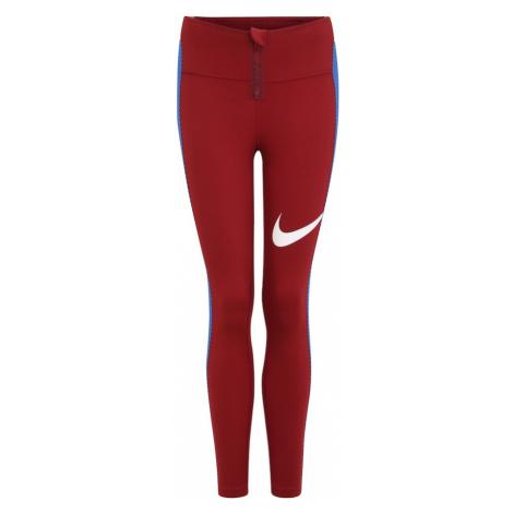 NIKE Spodnie sportowe 'Power' podpalany niebieski / czerwony