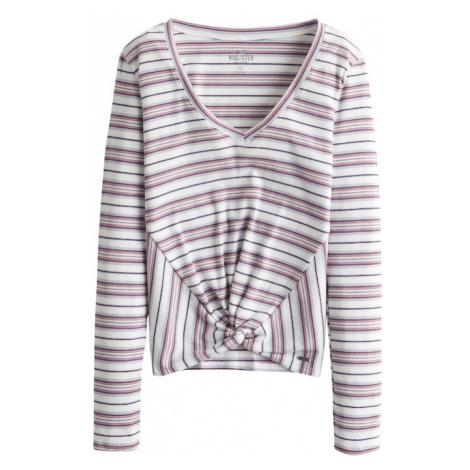 HOLLISTER Koszulka 'LS SLIM LETTUCE OTS MB 5CC' czerwony / biały