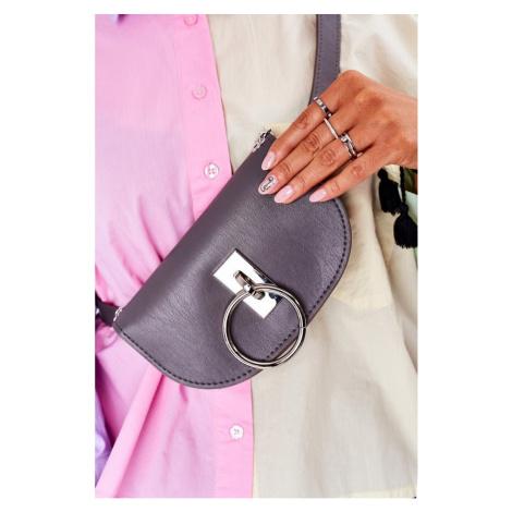 Mała torebka torebka nerka torba 2w1 Bruno Rossi Szary
