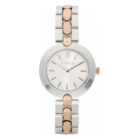 Furla Zegarek Logo Links WW00002-MT0000-O0000-9-009-20-CN-W Srebrny