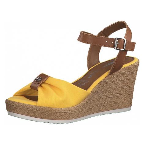 TAMARIS Sandały brązowy / żółty