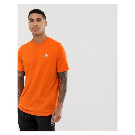 Adidas Originals essentials t-shirt in orange