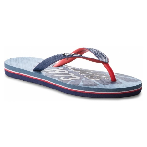 Japonki PEPE JEANS - Beach Blue PBS70018 Naval Blue 575