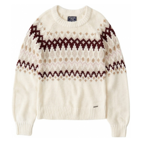 Abercrombie & Fitch Sweter 'XM19-CABLE MOCKNECK 6CC' beżowy