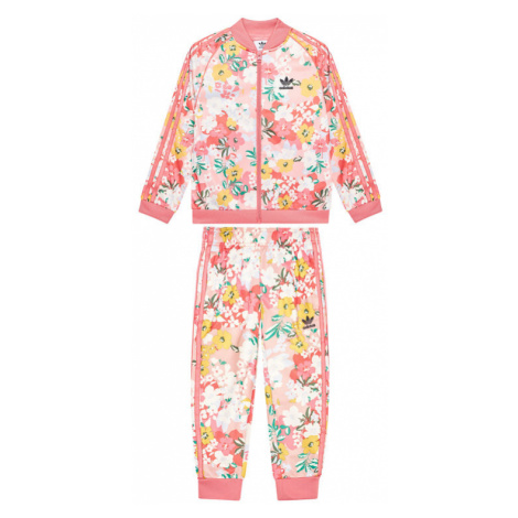 Adidas Dres Her Studio London Floral SST Set GN4210 Różowy Regular Fit