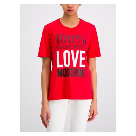 LOVE MOSCHINO T-Shirt W4F151IM 3517 Czerwony Regular Fit