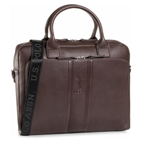 Torba na laptopa U.S. POLO ASSN. - Irvine Business Bag Pu BIUIV5043MVP/500 Brown