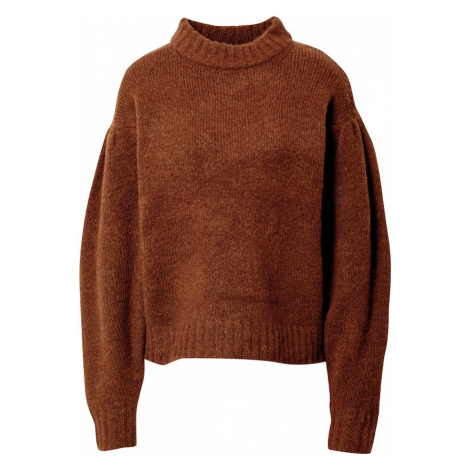 Gina Tricot Sweter 'Taylor' brązowy