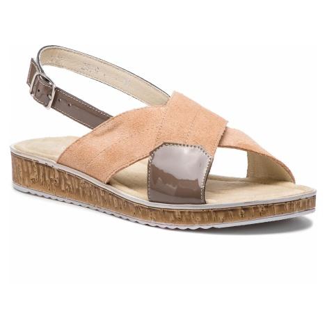 Sandały ANN MEX - 0288 02D+12L Różowy