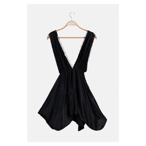 Trendyol Black Satin Nightgown