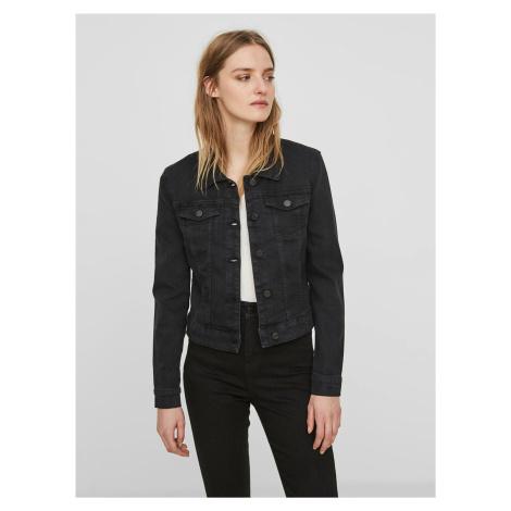 Czarna krótka kurtka jeansowa Noisy May Debra