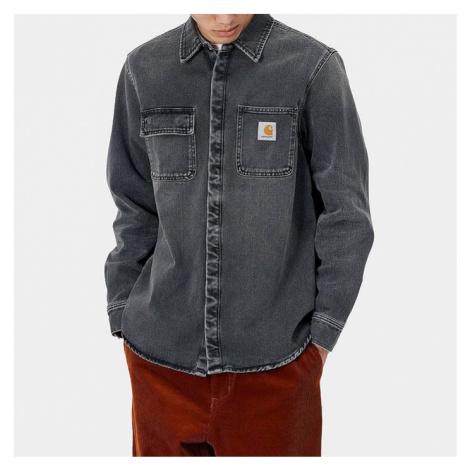 Koszula męska Carhartt WIP Salinac Shirt I027545 BLACK WORN