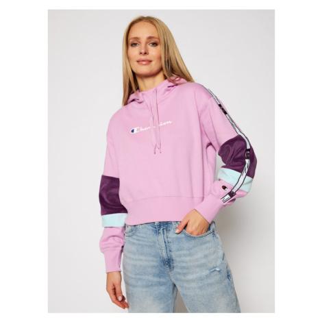 Champion Bluza Hoodie 113338 Różowy Custom Fit
