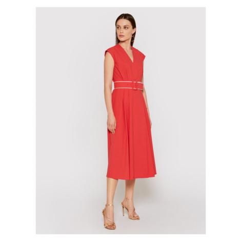 Marella Sukienka codzienna Numero 32212212 Czerwony Regular Fit