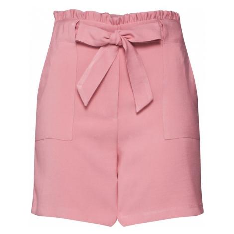 VILA Spodnie różowy pudrowy