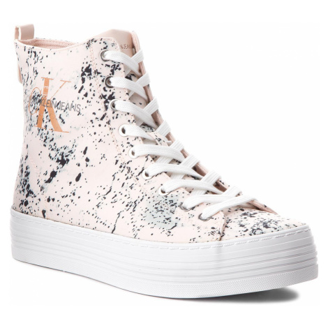 Sneakersy CALVIN KLEIN JEANS - Zazah Splattered RE9792 Pink