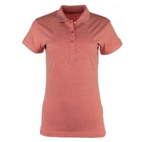 ALPINE PRO ZENDAYA różowy S - Koszulka polo damska