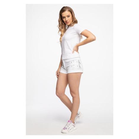 Spodenki Calvin Klein Krótkieshine Logo Knit Short J20J215559Yaf White