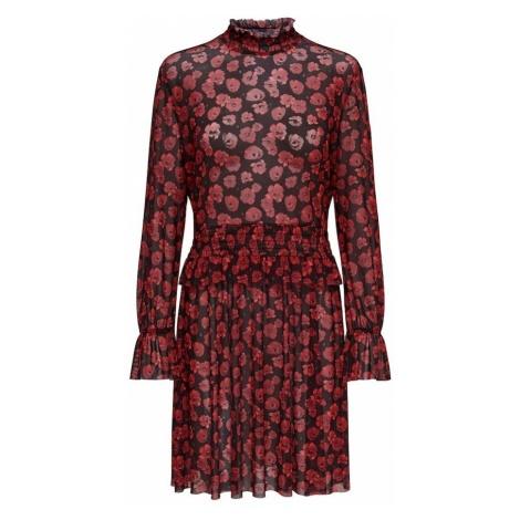 JACQUELINE De YONG Sukienka 'Ann' czerwony / czarny