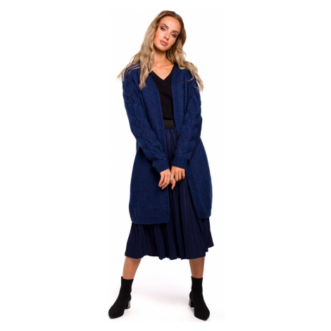 Made Of Emotion Woman's Cardigan M469 Navy Blue