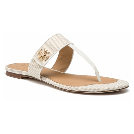 Japonki TORY BURCH - Kira Thong Sandal 55264 Natural/Perfect Ivory 263