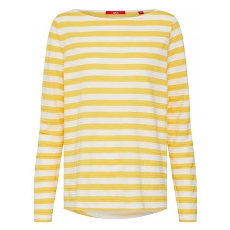 S.Oliver RED LABEL Koszulka żółty / biały