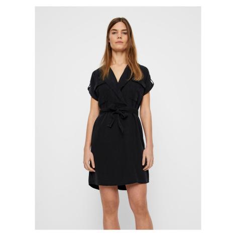 Czarna sukienka koszulowa Noisy May Vera