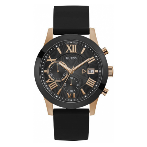Zegarek GUESS - Atlas W1055G3 BLACK/ROSE GOLD