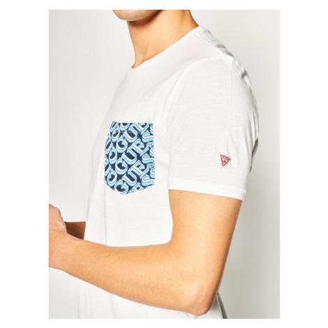Guess T-Shirt M0GI68 K6XN0 Biały Slim Fit