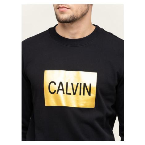 Calvin Klein Jeans Bluza Metallic Logo J30J313214 Czarny Regular Fit