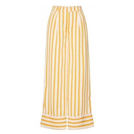 SELECTED FEMME Spodnie żółty / biały