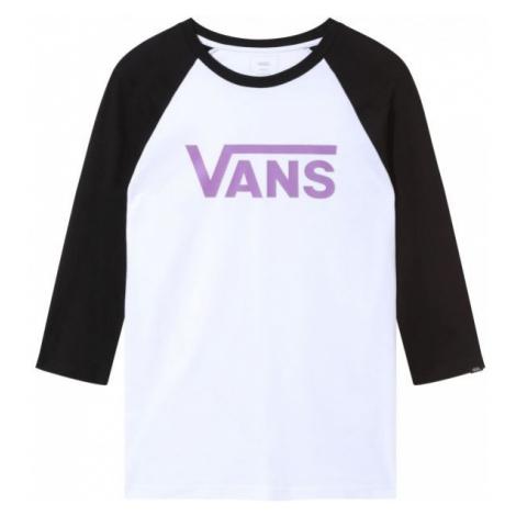 Vans MN VANS CLASSIC RAGLAN biały XL - Koszulka z rękawem 3/4 męska