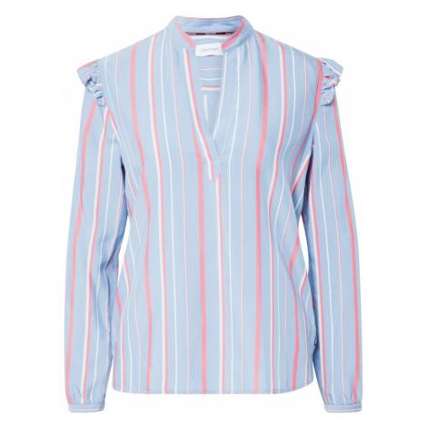 Calvin Klein Bluzka niebieski / różowy pudrowy