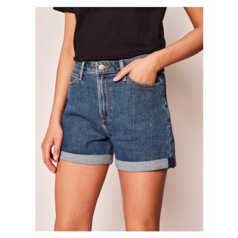 Lee Szorty jeansowe Mom L37MMG44 Granatowy Regular Fit
