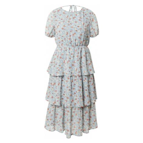 VILA Sukienka beżowy / błękitny