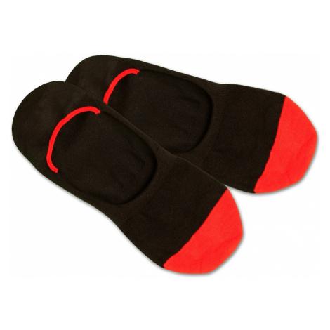 DillySocks Skarpetki stopki 'HiddenRedToes' czerwony / czarny