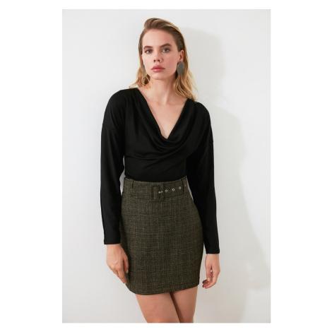 Trendyol Anthracite Belt Skirt