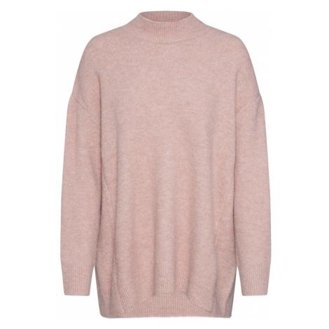 ROCKAMORA Sweter oversize 'Fern' różowy pudrowy