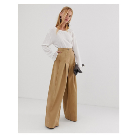 ASOS DESIGN super wide leg cargo trouser in premium cloth