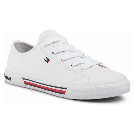 Trampki TOMMY HILFIGER - Low Cut Lace Up Sneaker T3X4-30692-0890 S White 100