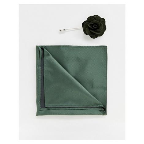 Gianni Feraud Plain Floral lapel Pin With Pocket Square Féraud