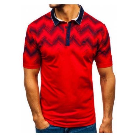 Koszulka polo męska czerwona Denley 6601 COMEOR