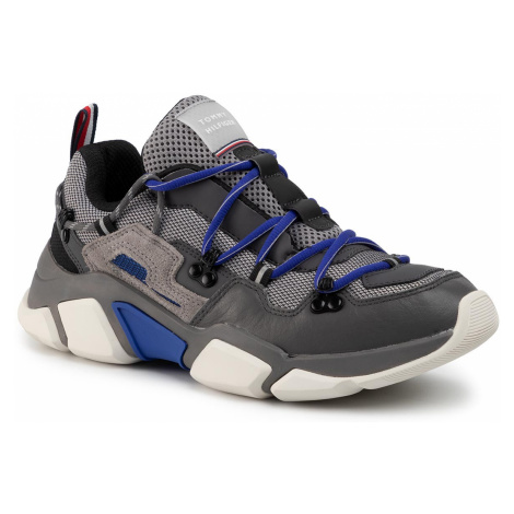 Sneakersy TOMMY HILFIGER - City Voyager Chunky Sneaker FM0FM02580 Dark Ash PTY
