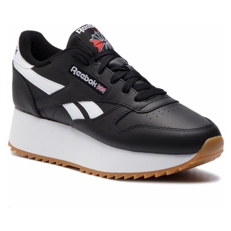 Buty Reebok - Cl Lthr Double DV3631 Black/White/Primal Red