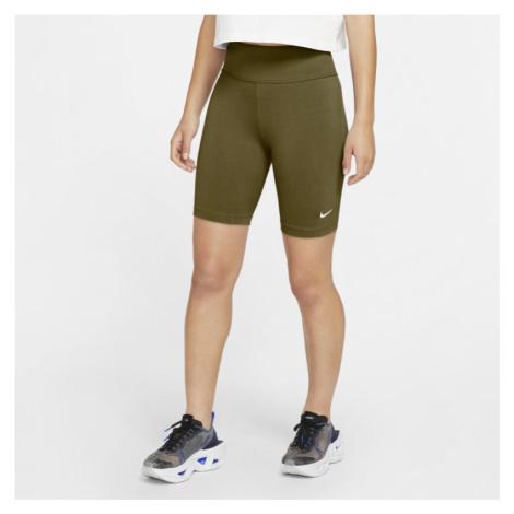 Spodenki damskie do jazdy na rowerze Nike Sportswear Leg-A-See - Zieleń