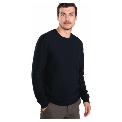BOSS Facetti Sweter Niebieski Hugo Boss